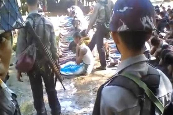 Myanmar detains police over Rohingya abuse video - World - Dunya News
