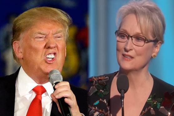 Trump hits back at Meryl for criticism during Golden Globes