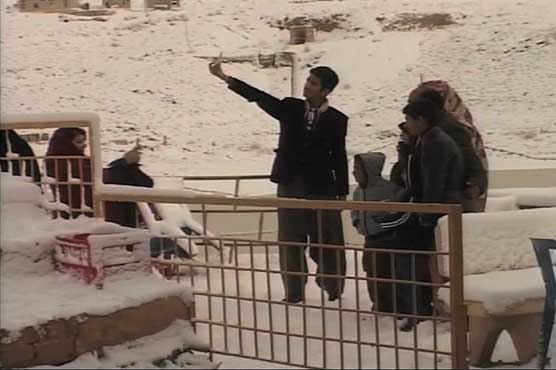 Fascinating view of Quetta turned white with snow