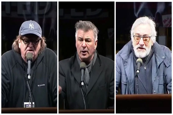 Hollywood A-listers join anti-Trump protest in hometown New York