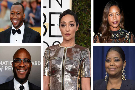 #OscarsSoWhite to #OscarsLessWhite; diverse nominees stand out