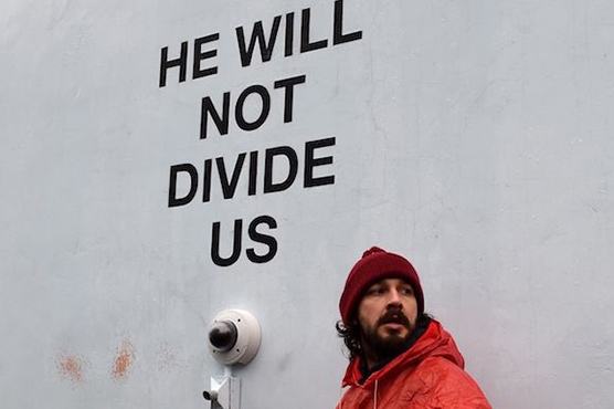 Shia LaBeouf charged with assault during anti-Trump protest