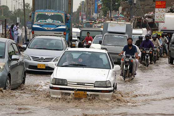 Streets inundated in Karachi, more rain expected