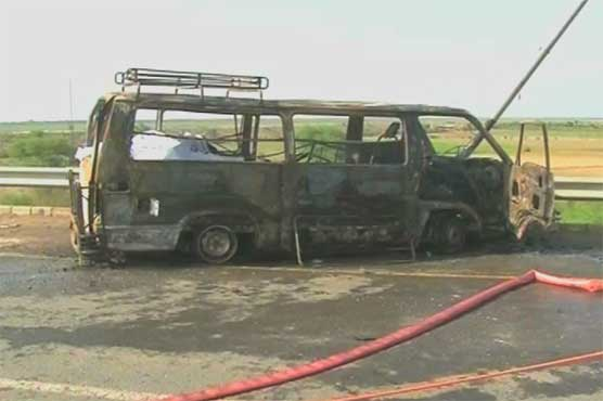 Multan van fire incident leaves 7 dead, 24 injured