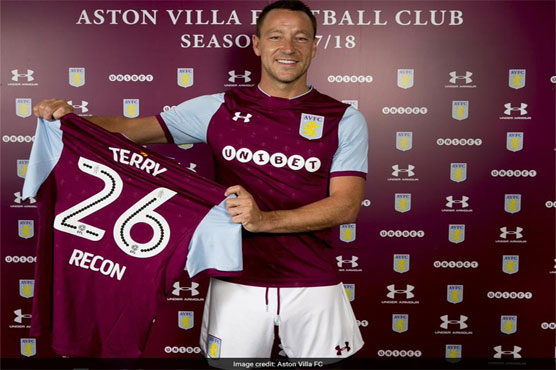Football: Former Chelsea icon Terry signs for Aston Villa