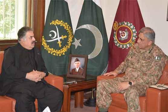 Balochistan CM calls upon General Qamar Bajwa
