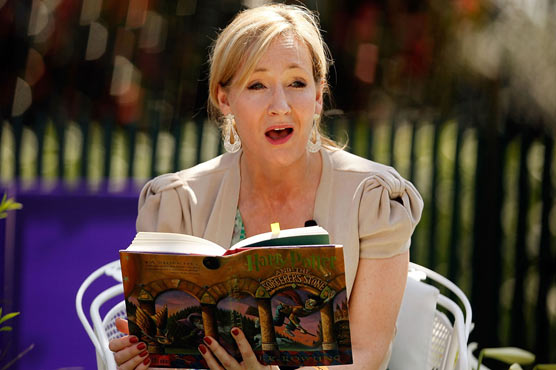 JK Rowling reveals secret fairy tale she wrote on a dress