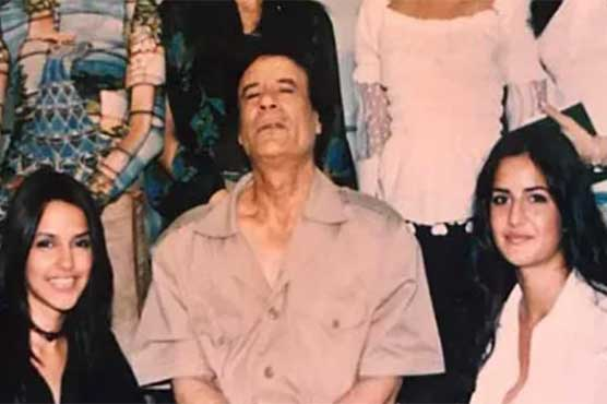 Katrina's picture with Muammar Gaddafi takes social media by storm