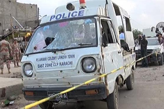 Three policemen, one child killed in Karachi police van firing