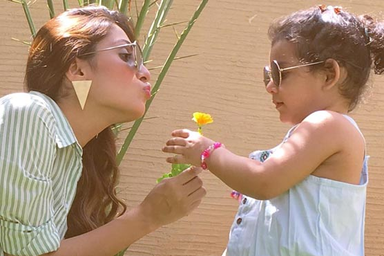 Moral police found nudity in Ayeza Khan's two-year-old daughter picture