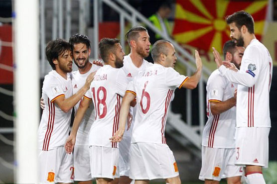 Football: Silva, Costa keep Spain in front of Italy