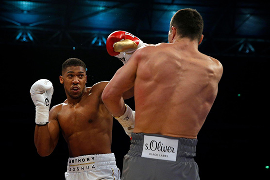 Anthony Joshua ready for training despite no rival