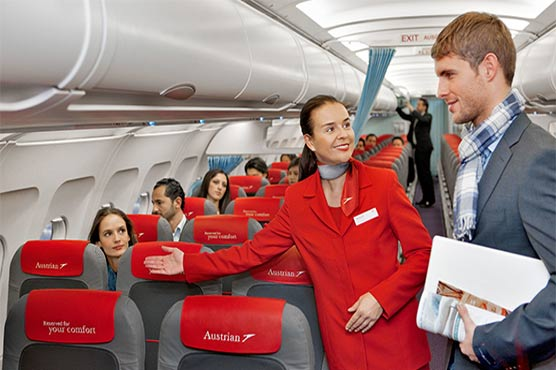 Education - Air Hostess Welcomes Passengers