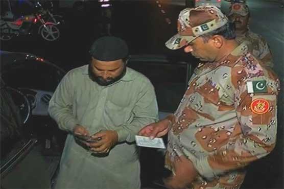 Karachi: Rangers conduct snap checking at various roads