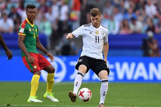Football: Werner brace fires Germany into semis against Mexico