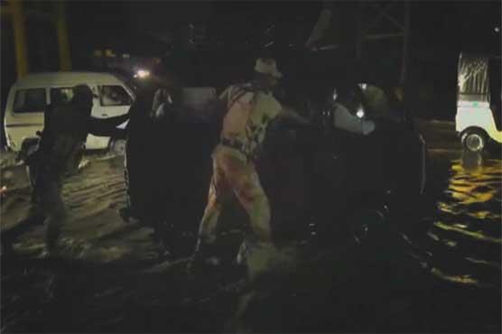 Karachi: Rangers start relief work in rain-affected areas