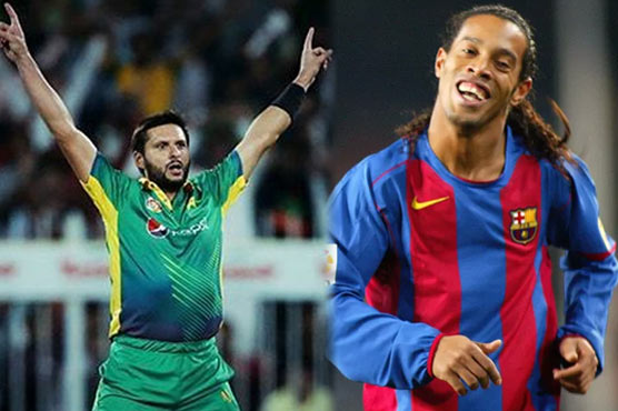 Ronaldinho gives a shout out to 'BOOM BOOM' Afridi