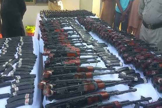Motorway police recover huge cache of weapons hidden in car enroute to Lahore
