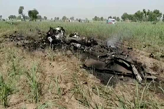 Training aircraft crashes in Jhang, pilot ejects safely