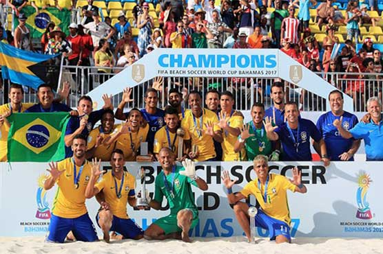 Brazil win FIFA Beach Soccer World Cup for record fifth time