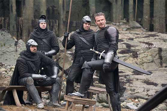 David Beckham's pictures from 'King Arthur' movie released