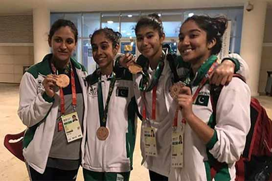 Female swimmers win bronze medal for Pakistan in Islamic solidarity games