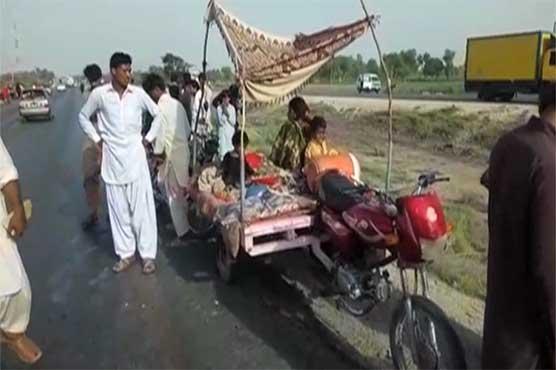 Ghotki: Truck-rickshaw collision leaves four dead