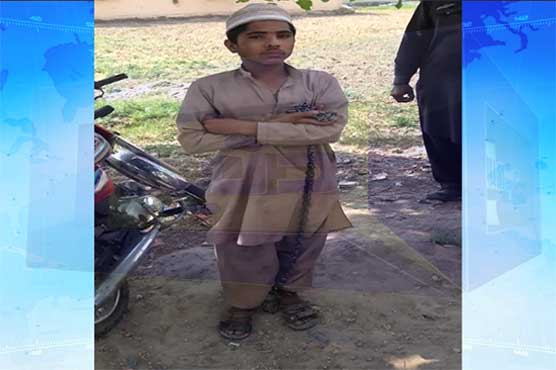 Boy chained in madrassa recovered from Lahore