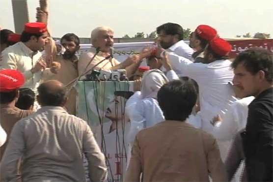 Politicians brawl to address Mashal Khan's chehlum gathering