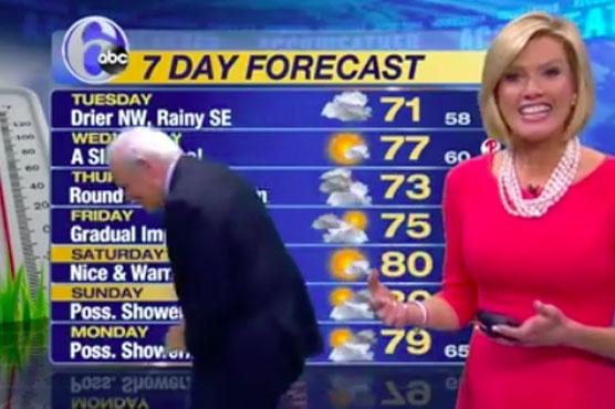 Missing earring halts Philadelphia TV weather forecast