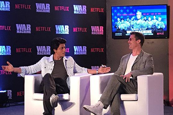 It's a treat: Brad Pitt, Shahrukh Khan share frame