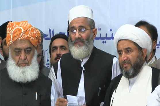 Religious parties announce restoration of Muttahida Majlis-e-Amal