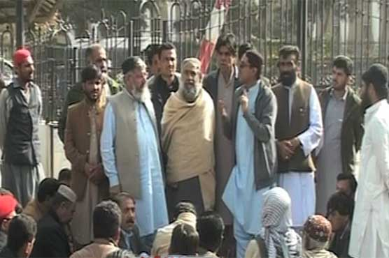 Balochistan Assembly members protest as bonus announced by CM delayed