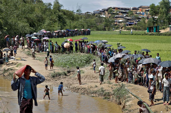 Myanmar blames the insurgents for attacks on civilians and for setting most of the fires