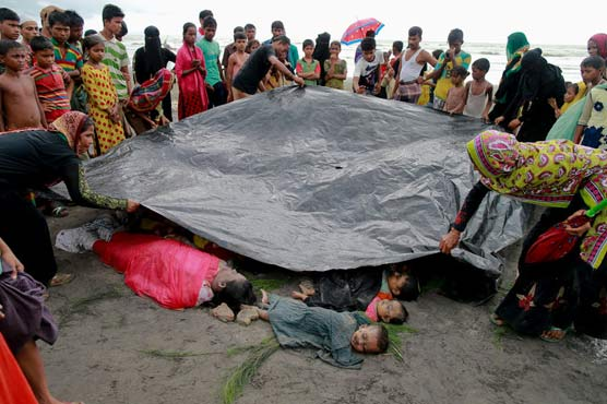 Rescuers retrieve bodies of 19 Rohingya refugees from Naf River