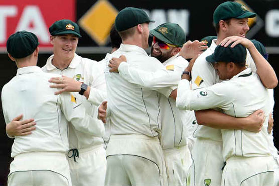 Australia all out for 377