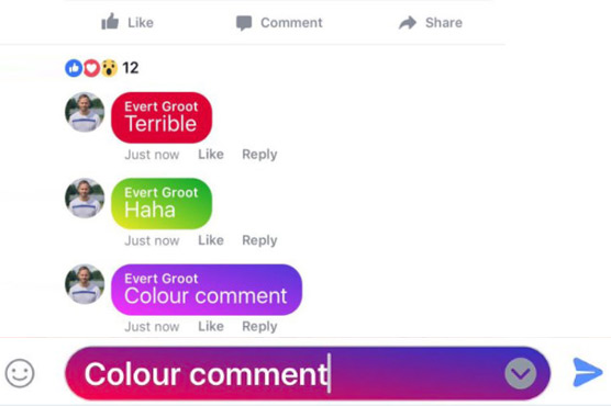 Facebook is testing colorful comments in the mobile app