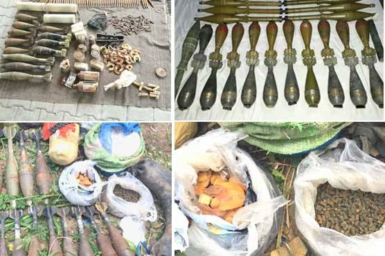 Radul Fassad: Huge cache of weapons confiscated from FATA, KPK and Balochsitan