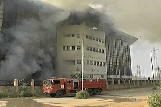 2 killed as fire engulfs building in Pakistan's capital