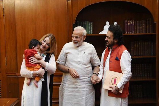 PM Modi welcomes Adnan Sami's daughter Medina