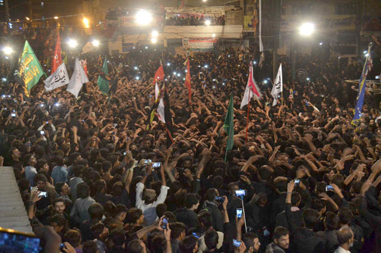Ashura processions under way around Pakistan; cellular services suspended