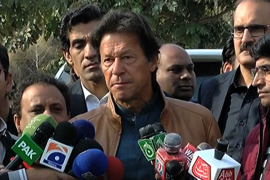 In media talk Imran Khan accused his opponents of bribery in Lodhran NA-154 elections