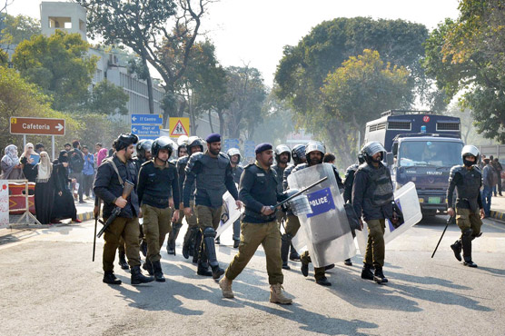 Chemistry lab burned, several injured as PU student groups clash