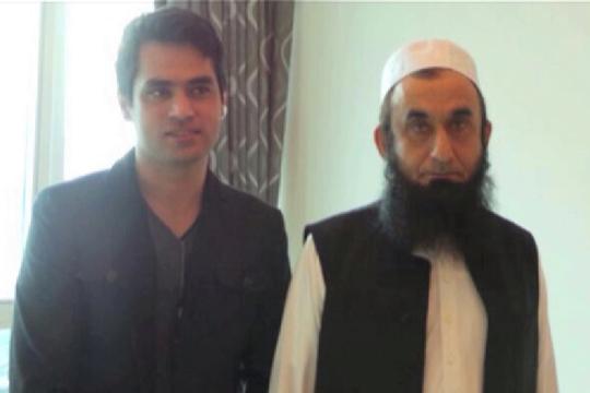 Maulana Tariq Jameel Met, Veena Malik and her husband.