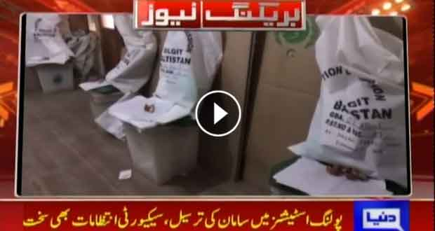 Election material delivered to polling stations under fool proof security