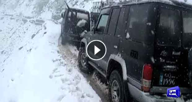 Astore-13: Voters face trouble in voting process due to snowfall