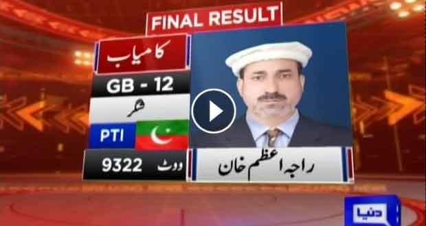 PTI's Raja Azam Khan wins from GB-12 Shigar: Unofficial result