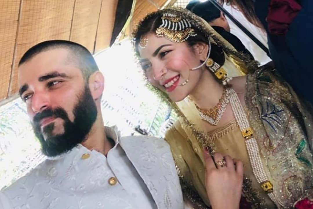 Hamza Ali Abbasi ties knot with Naimal Khawar Khan