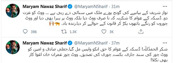 Maryam Nawaz lauds ECP's decision of re-polling in NA-75 1