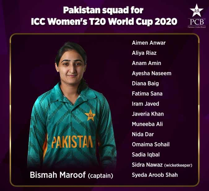 PCB announces squad for ICC Women's T20 World Cup